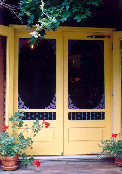 Screens for french doors building construction diy for Double door screen door