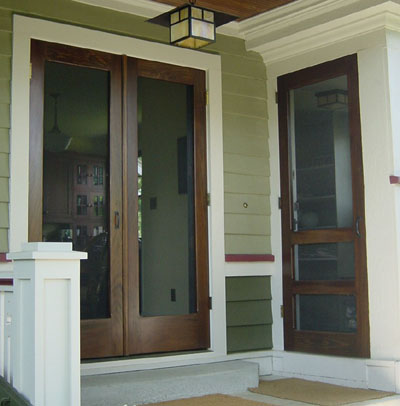 Screen doors and security doors on pinterest security for Storm doors for double entry doors