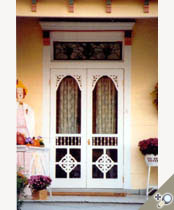 Double Chelsea Screen U0026 Storm Door Painted White And Installed With Brass  Hardware. Browse More