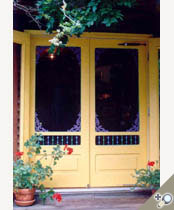 Custom Victorian double screen door. Browse more Victorian door designs that can be made into double doors like this one.