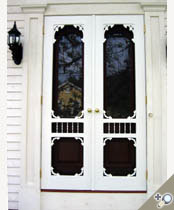Double Ocean View Screen U0026 Storm Door From Our Victorian Collection.  Installed With Brass Hardware