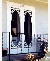 Double Newcomer screen & storm door. Browse more Victorian designs which can be made into double doors like this one.