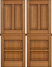 beautiful wood interior doors at