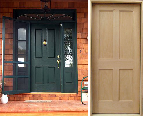 Custom Wood Exterior Doors Solid Wood Doors Yesteryears Vintage